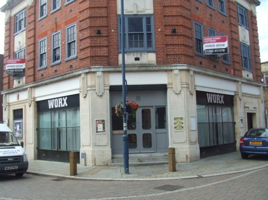 'Worx' Nightclub in St Neots Market Square, in July 2010, now closed.
