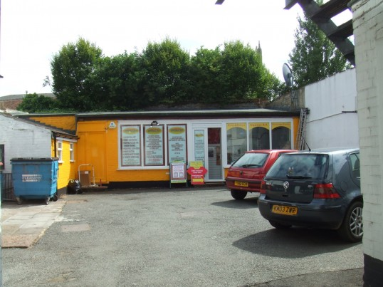 Intalyo mounting and printing shop, just off St Neots High Street (south side), in July 2010