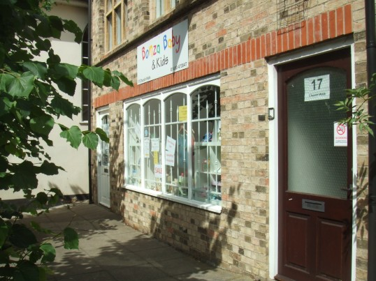 Bonza Baby – shop about to close in Church Walk, just off St Neots High Street, in July 2010