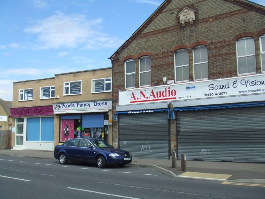 Beetroot, 'Pepe's Fancy Dress' and A N Audio in Huntingdon Street, in July 2010