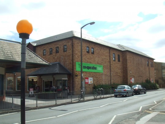 Co-op stores in Tebbutt Road, St Neots, in July 2010, built as Gateway and then became Somerfield