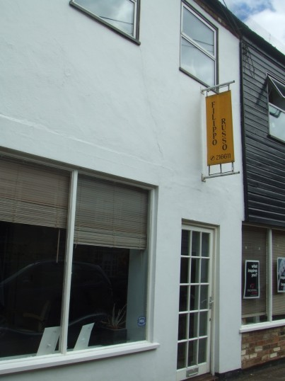Filippo Russo Salon in Fishers Yard, off St Neots Market Square in July 2010