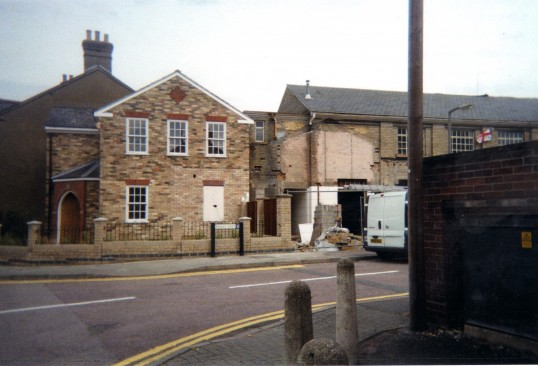 Converted flats and former Bulls workshop, being converted into housing in St Marys Street, Eynesbury in September 2010