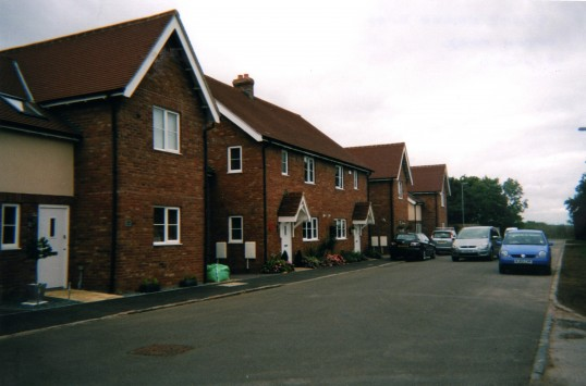 New housing at Crosshall on the west side of the Great North Rd in September 2010