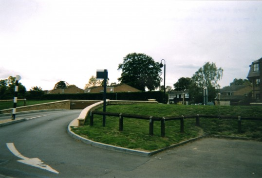 Looking out from the Riverside Car Park entrance towards The Paddock, in September 2010, after the flood defences were completed.