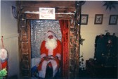 Father Christmas at St Neots Museum in December 2009