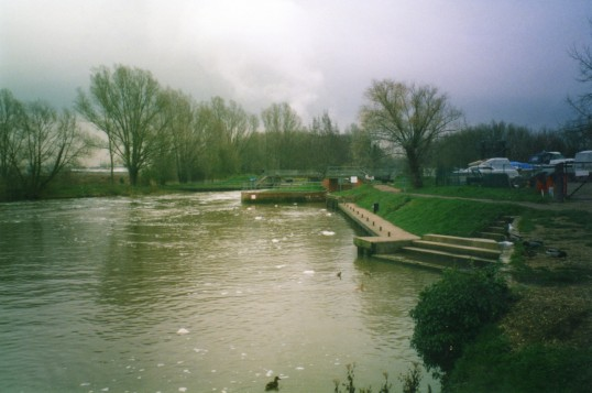 Eaton Socon lock and weir on the River Great Ouse
