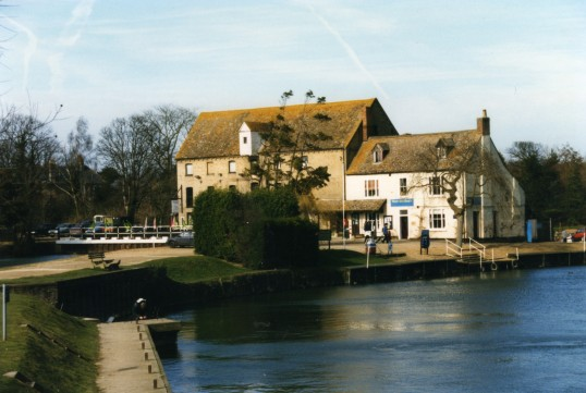 Eaton Socon Rivermill and the River Great Ouse from the boat landing in February 1999