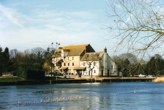 Eaton Socon Rivermill from the river in February 1999