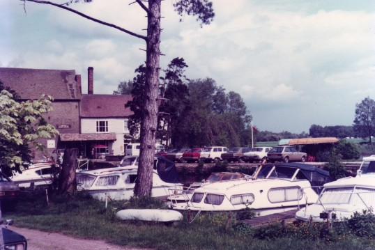 Eaton Socon Marina on the River Great Ouse in May 1982