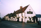 Hanging baskets in July 2003 at the Waggon and Horses in Eaton Socon