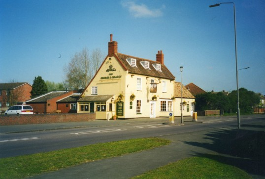George and Dragon Public House on the Great North Rd in Eaton Socon in April 2002