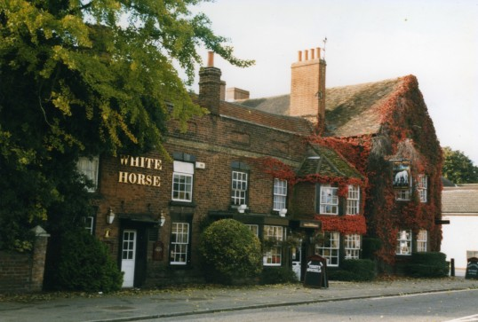 White Horse Pub, 101 Great North Rd, Eaton Socon in October 1998