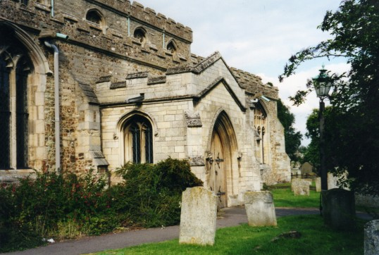 Eaton Socon, St Marys Church south porch in August 2000