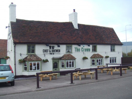 The Crown, 1 Great North Rd, Eaton Socon, after refurbishment and reopening in October 2010