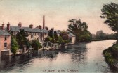 River Terrace at St Neots on a postcard dated Feb 1907 on the bank of the River Great Ouse