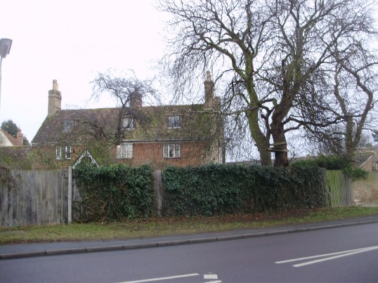 The Ferns, just off Eynesbury Village Green, in January 2011, former home of C. Tebbutt, historian of St Neots (P.Ibbett)