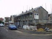 Alteration from former warehouse into flats at Berkley Court in Eynesbury in January 2011 (P.Ibbett)