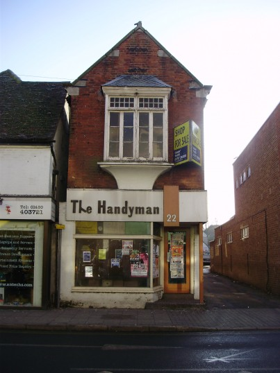 Handyman shop in December 2010 - has now been closed for several years (P.Ibbett)