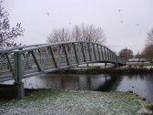 Coneygeare Bridge crossing the River Great Ouse  in December 2010 (P.Ibbett)