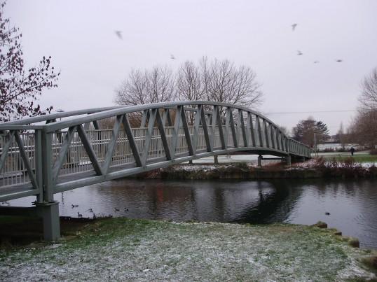 Coneygeare Bridge crossing the River Great Ouse  in December 2010 (P.Ibbett)
