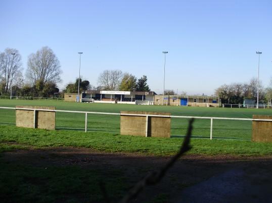 Eynesbury Rovers Football Club in Hall Road, Eynesbury in November 2010 (P.Ibbett)