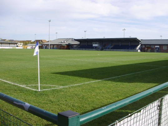 St Neots Football Club on the Loves Farm estate in October 2010 (P.Ibbett)
