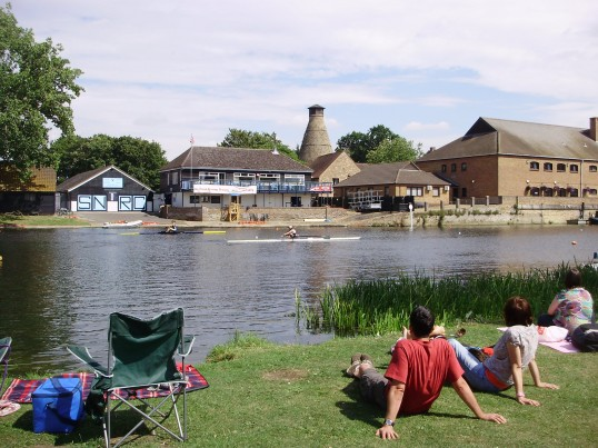 Watching the Annual St Neots Regatta held on the River Great Ouse  in July 2010 (P.Ibbett)