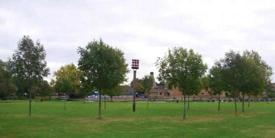 Beacon in Regatta Meadow in Eaton Ford in September 2009 (P.Ibbett)
