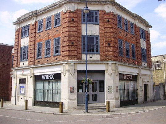 Worx Night Club in St Neots Market Square in former Job Centre in June 2009 (P.Ibbett)