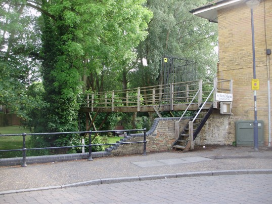 Gill Footbridge across Henbrook at Brook Street in St Neots in June 2009 (P.Ibbett)
