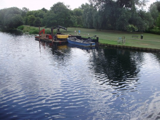 Repairs to the riverbank of the River Great Ouse in July 2009 (P.Ibbett)