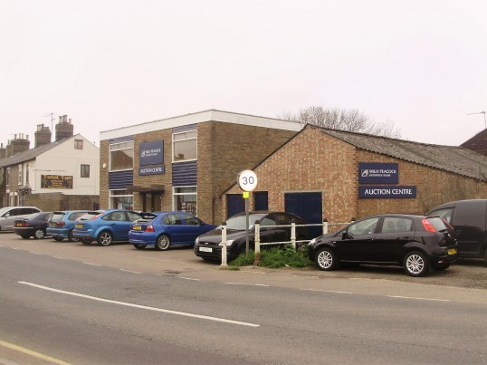 Peacock Auction Yard (formerly Shaws Auctions) in New Street, St Neots in April 2009 (P.Ibbett)