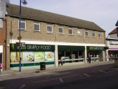 Marks & Spencer Simply Food shop in March 2009, in the former Iceland shop in St Neots High Street (P.Ibbett)