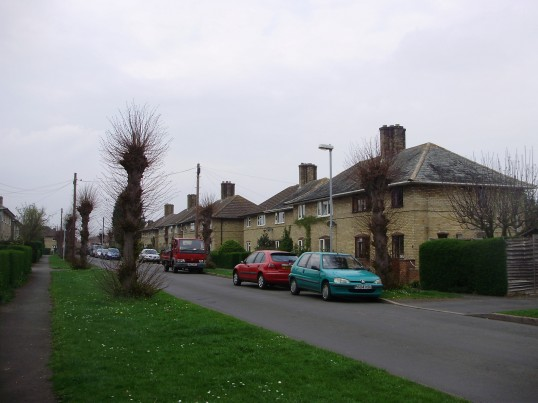 Ferrars Avenue in Eynesbury in April 2009, where the St Neots quads were born in 1935 (P.Ibbett)