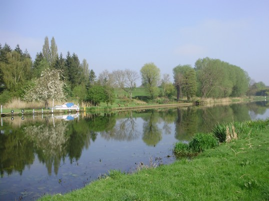 View from St Neots Common across the River Great Ouse towards St Neots Golf Course (P.Ibbett)