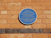 St Neots Quads plaque in New Street, St Neots in March 2009 (P.Ibbett)