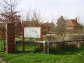 Sign for Potton Show Homes Centre, Mill Lane, St Neots in March 2009 (P.Ibbett)