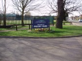 Sign at the entrance to Priory Park, St Neots, in March 2009 (P.Ibbett)