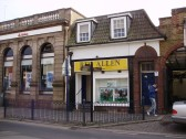 Reg Allen betting shop and Abbey Building Society in St Neots Market Square in March 2009 (P.Ibbett)