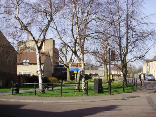 St Neots Baptist Churchyard in New Street, in March 2009, now a  memorial garden (P.Ibbett)