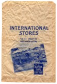 International Stores - a 1970s paper bag from the store in St Neots High Street