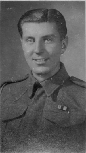 Jim Barringer at Northfields, Dunstable, in 1945. Lived at 22 Ackerman Street, Eaton Socon, before marrying and settling in Dunstable.