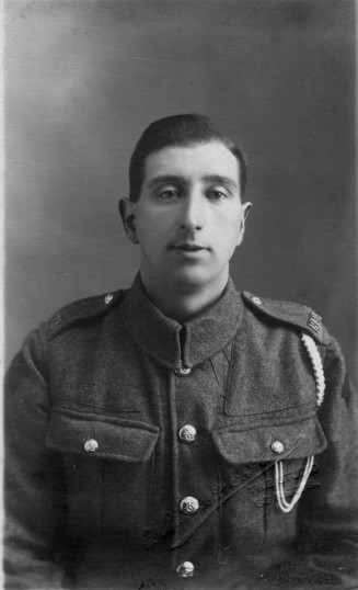 Austin James Barringer, from Eaton Socon, in 1919 in the Royal Artillery.