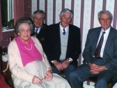 Jim and Florrie Barringers Diamond Wedding in January 1996, with Jim's two brothers Ken and Ron.