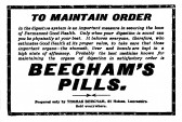 Advert about Beechams pills in the St Neots Advertiser, January 1916