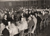 Samuel Jones Little Paxton Paper Mill annual staff dinner, held in the canteen in the 1950s