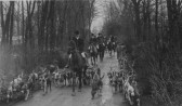 Hunting with the Hounds, from Paxton Hall, about 1930.