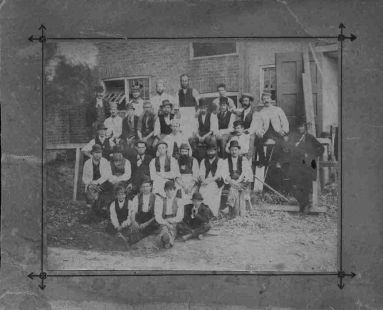 Workmen from Paxton Park estate 'in Lord Gordon's time, in the early 1900s