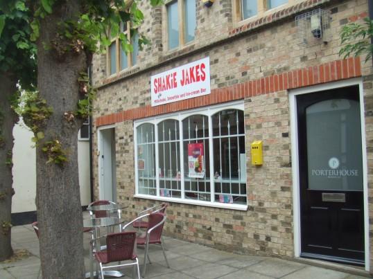 Shakie Jakes Milkshake shop in Church Walk, St Neots in June 2011